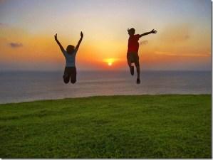 Um salto de alegria!