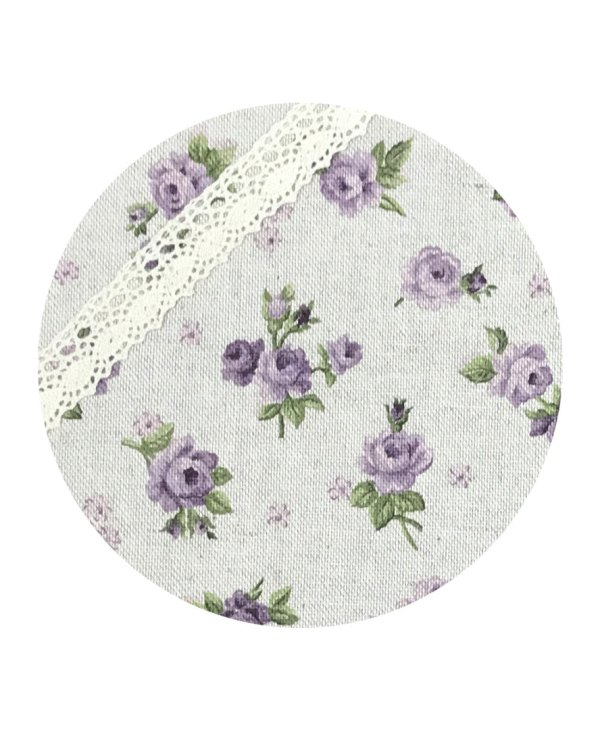 silverware pouch lilac roses