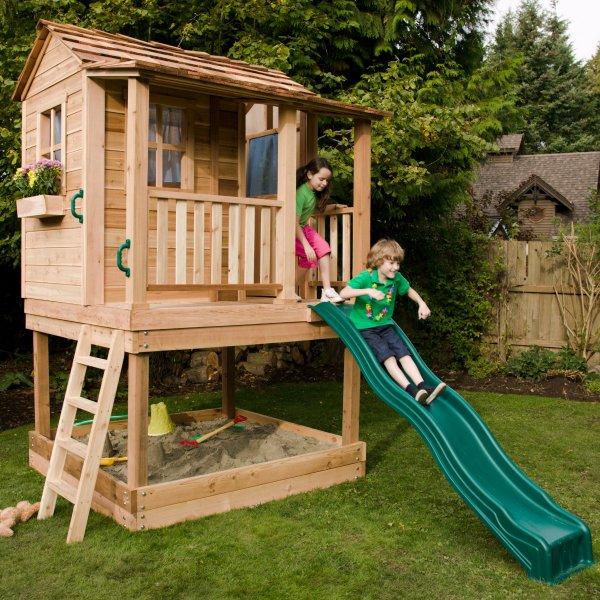 Kids Outdoor Wooden Playhouse