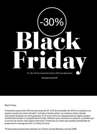 Loreak Mendian Black Friday