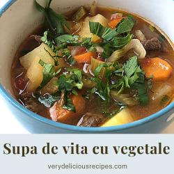 Supa de vita cu vegetale