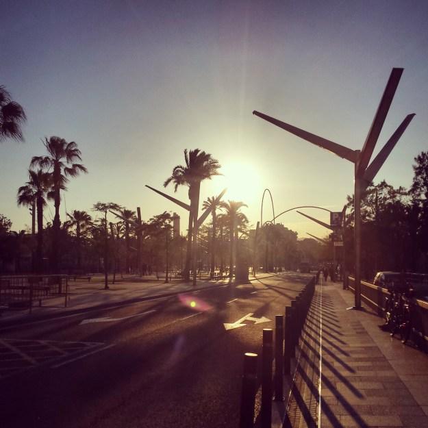 In hartje Barcelona...