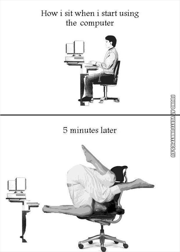 Computer ergonomics  Very Funny Pics