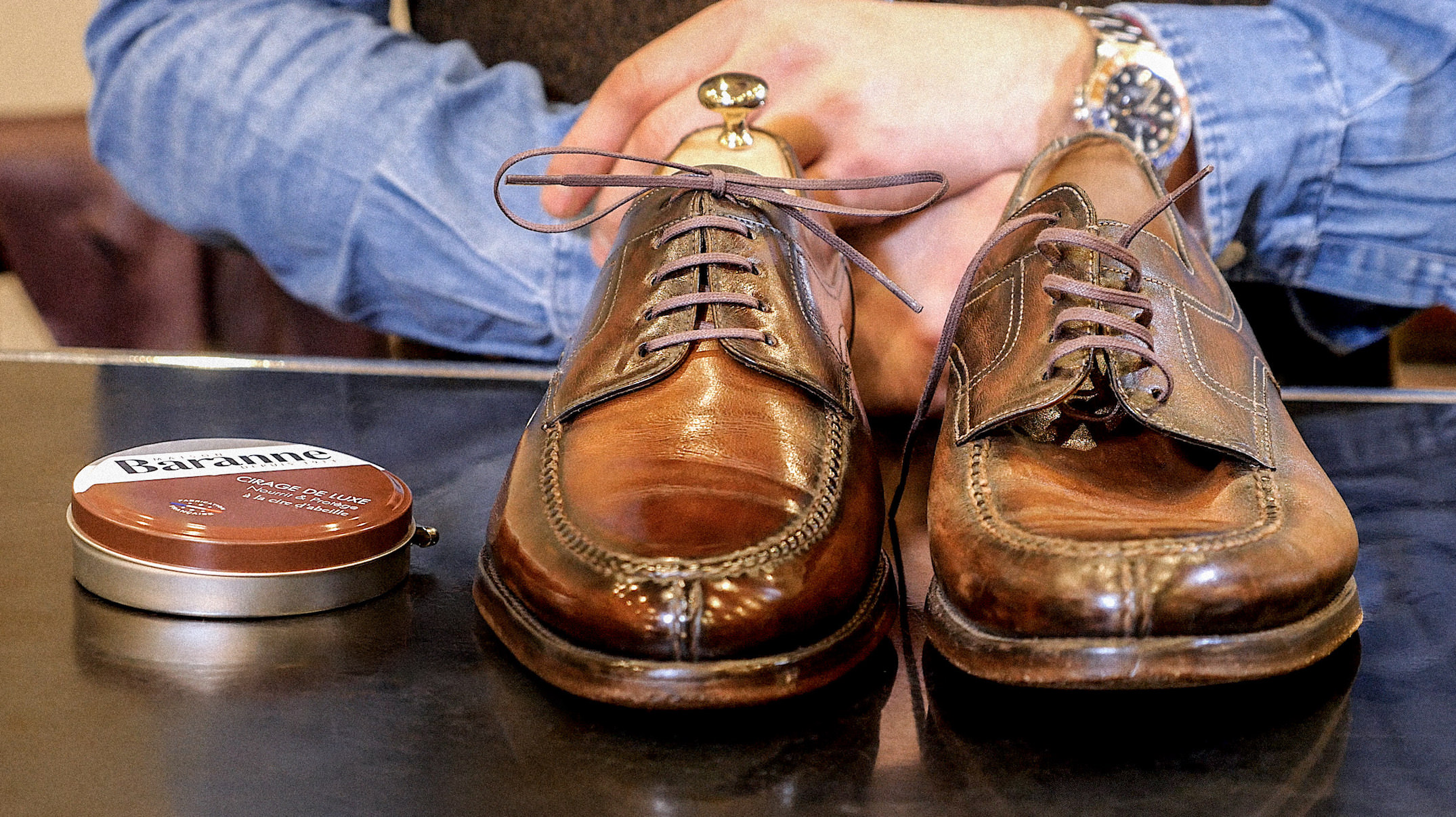 comment glacer chaussures homme