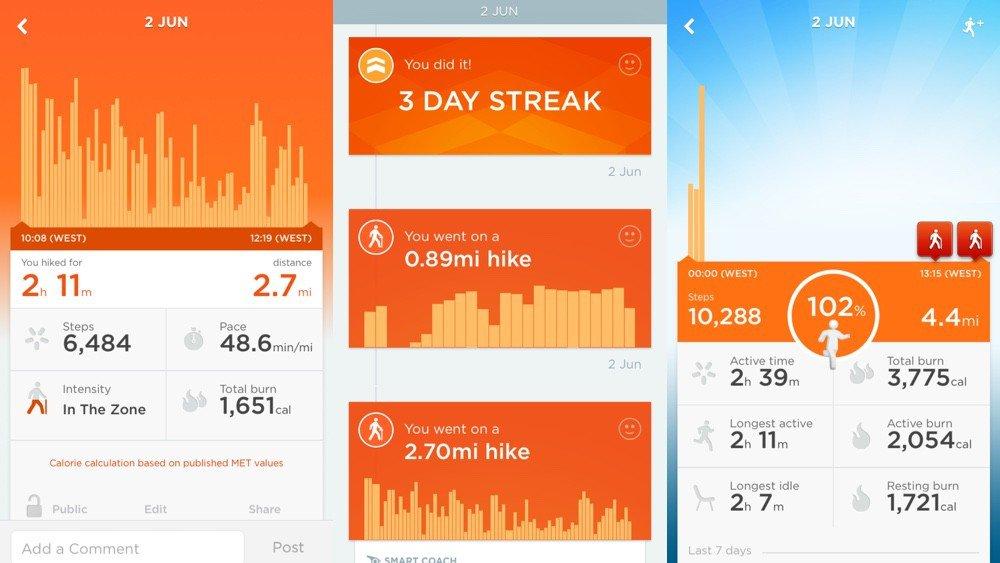 app jawbone UP2 tracker
