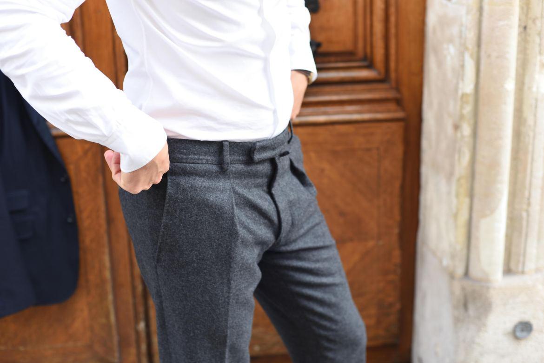 bernard zins pantalon flanelle plis francais