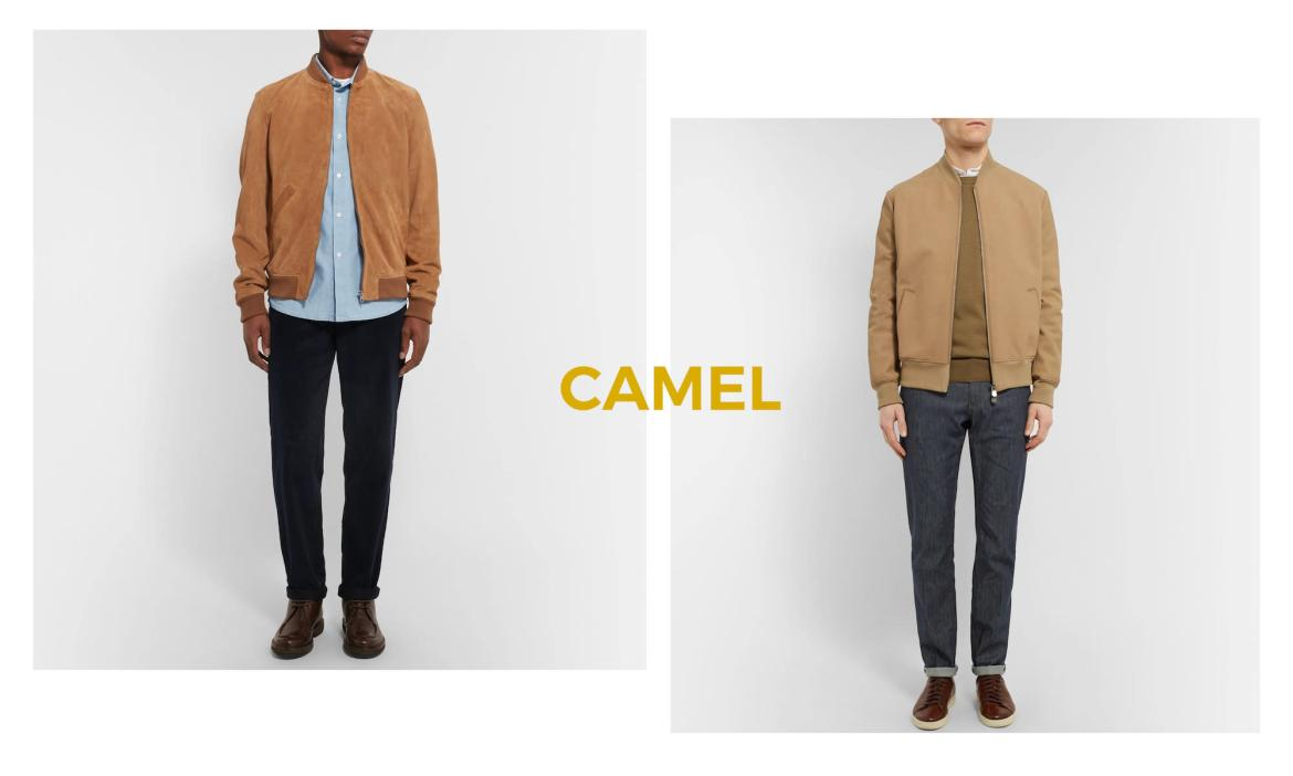look homme touche camel