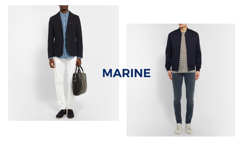 look homme touche marine