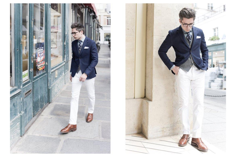 look homme blazer bleu marine