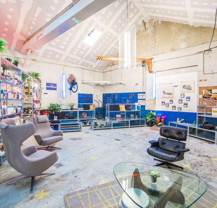 Bibliotheque garage merci alfred
