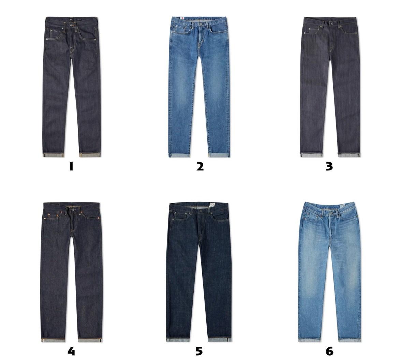 selection de jeans pour homme