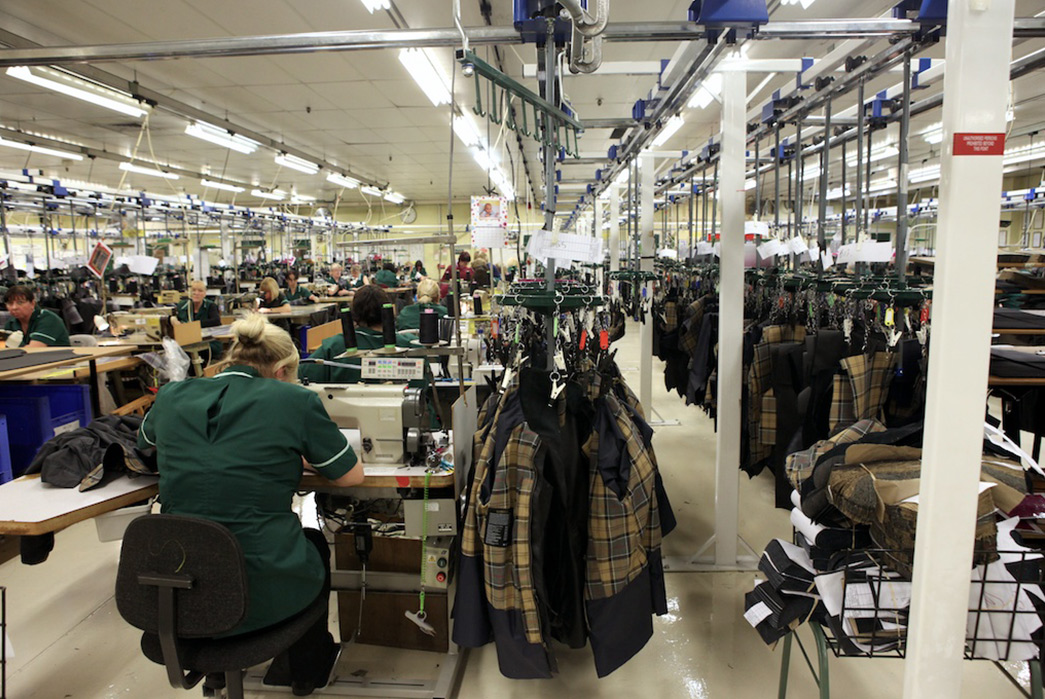 ligne de production usine barbour