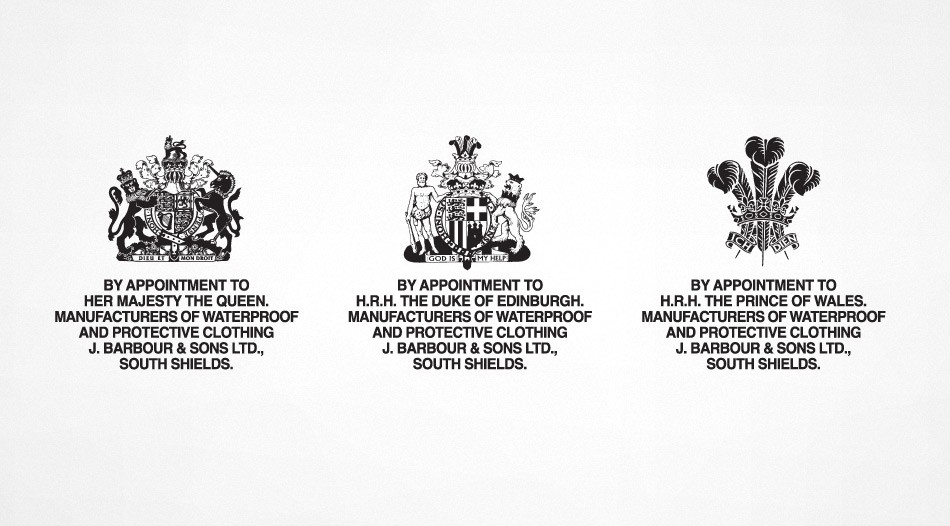 royal warrants barbour