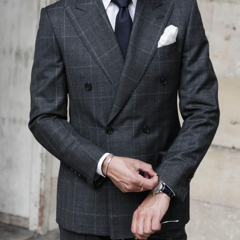 costume prince de galles gris