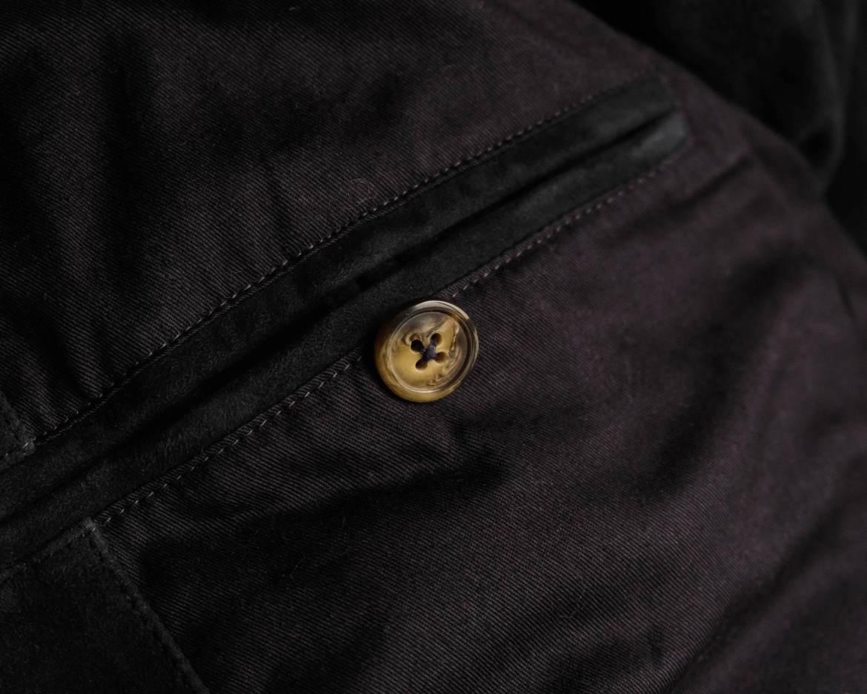 bouton corne poche interieure blouson cuir forlife steve