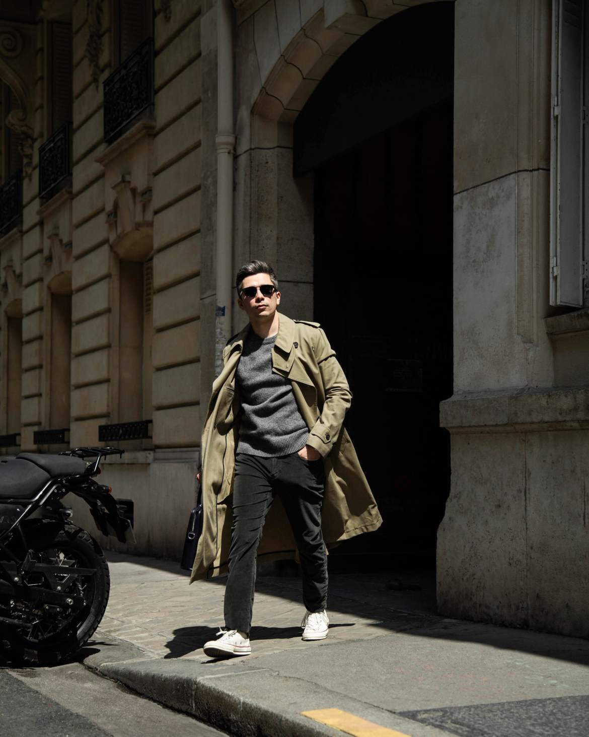 look homme trench pull pantalon velours converse