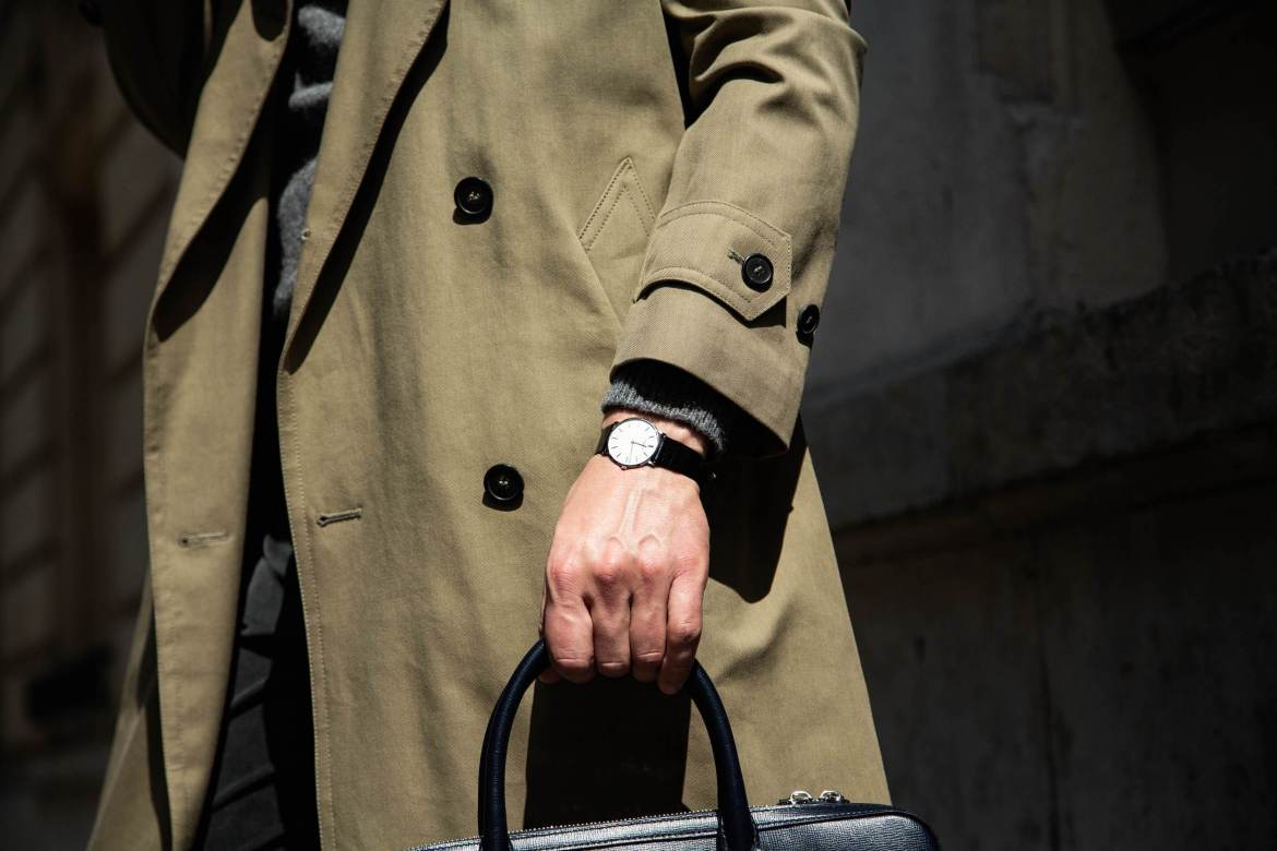 look homme trench pull