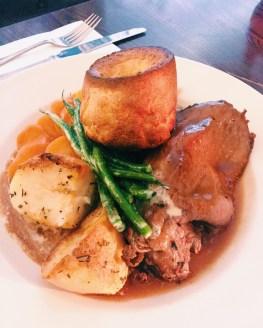 Sunday Roast at the Duke of York in St. John's Wood.