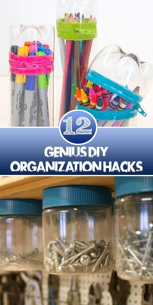 12 Genius Diy Organization Hacks • Veryhom