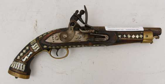 historique steinschloss pistolet bois