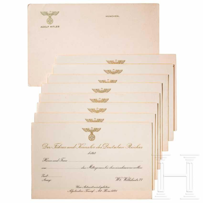 neuf cartes d 39 invitation vierges