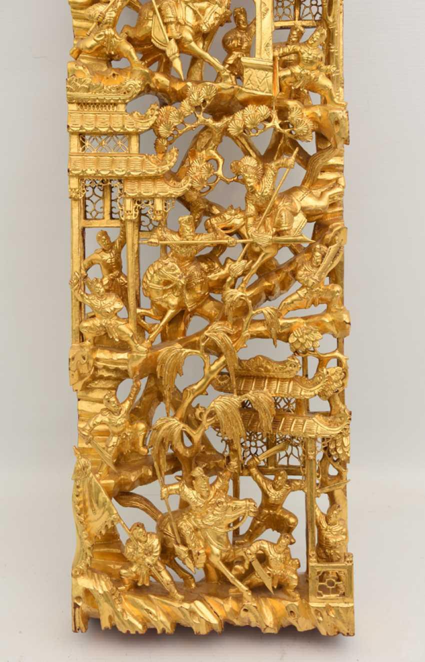 Wandbild 2, Beschnitztes Und Lackiertes Holz Vergoldet, China Mitte