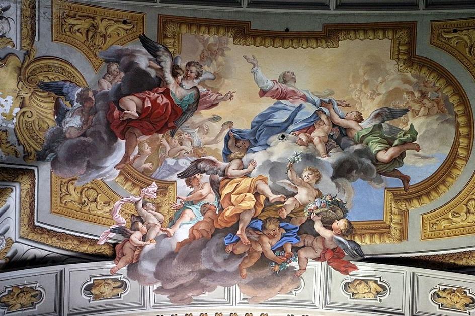 """Τοιχογραφία. Andrea del Pozzzo. """"Triumph of St. Ignatiya"""", 1690"""