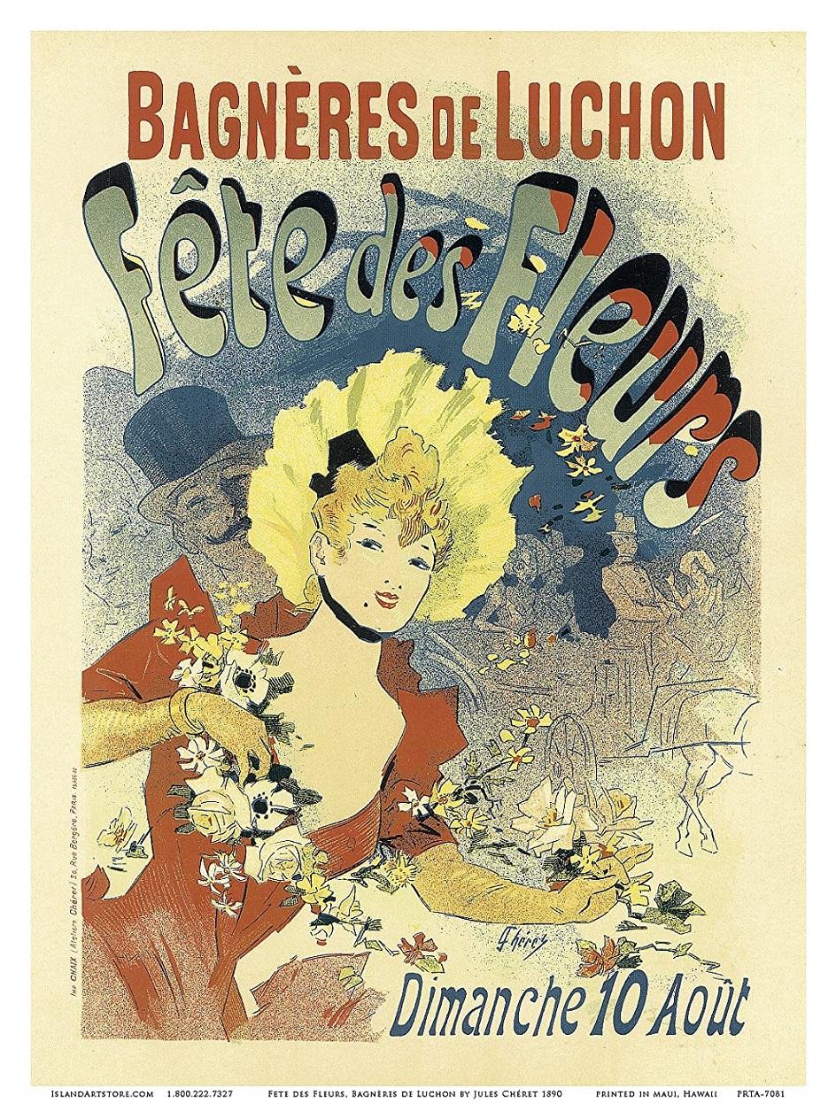 """پوستر Jules Sher """"تعطیلات گل در Bannjer de Lushon"""""""