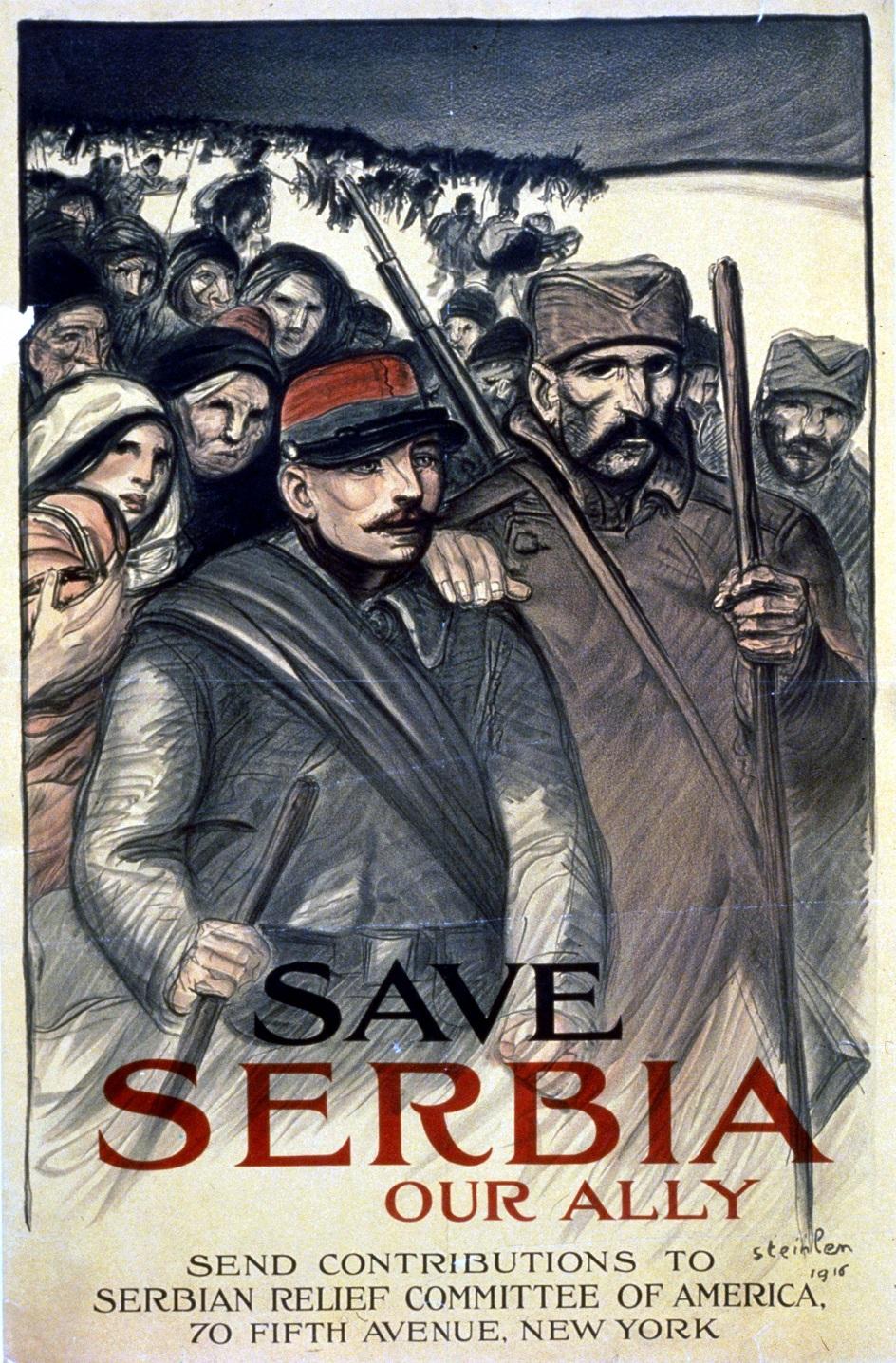 "پوستر Theophile-Alexander Steinlen. ""صرفه جویی در صربستان"""