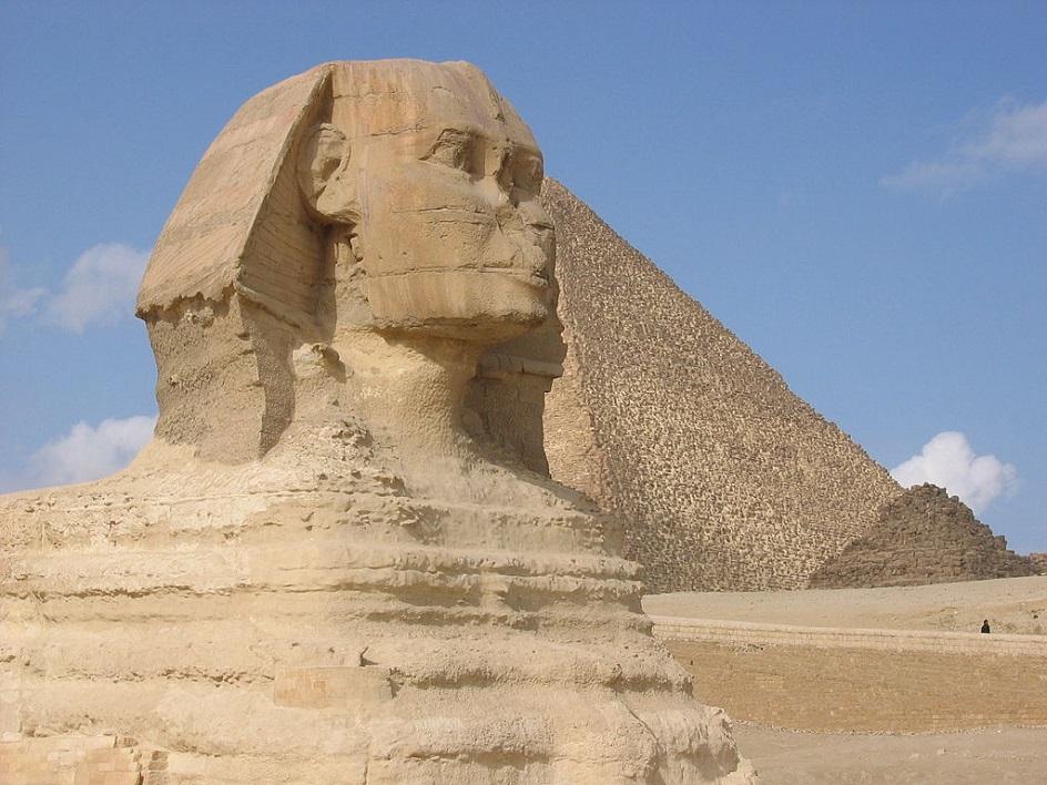"""Escultura. Escultura """"Big Sphinx"""", 25º século aC"""