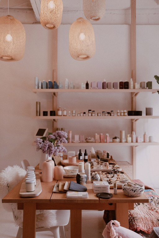 Fashion accessories and beauty products sold at Tiny House Mama in East Toronto