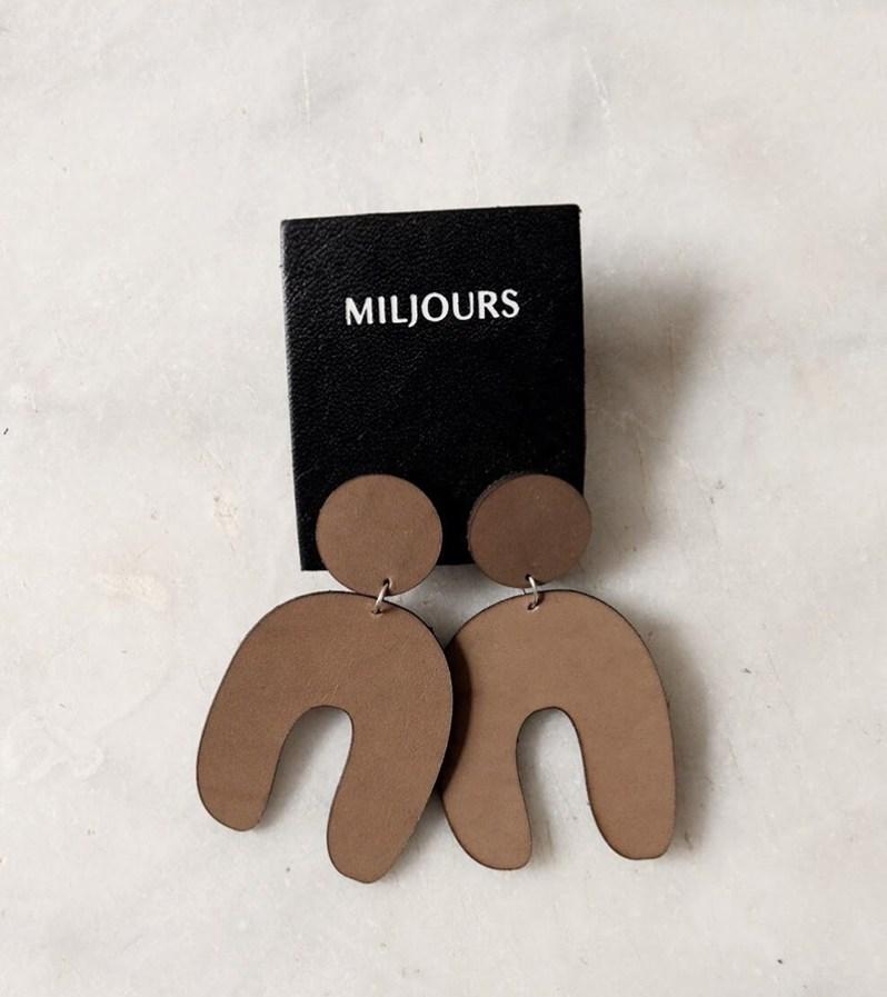 Miljours earrings made in Quebec
