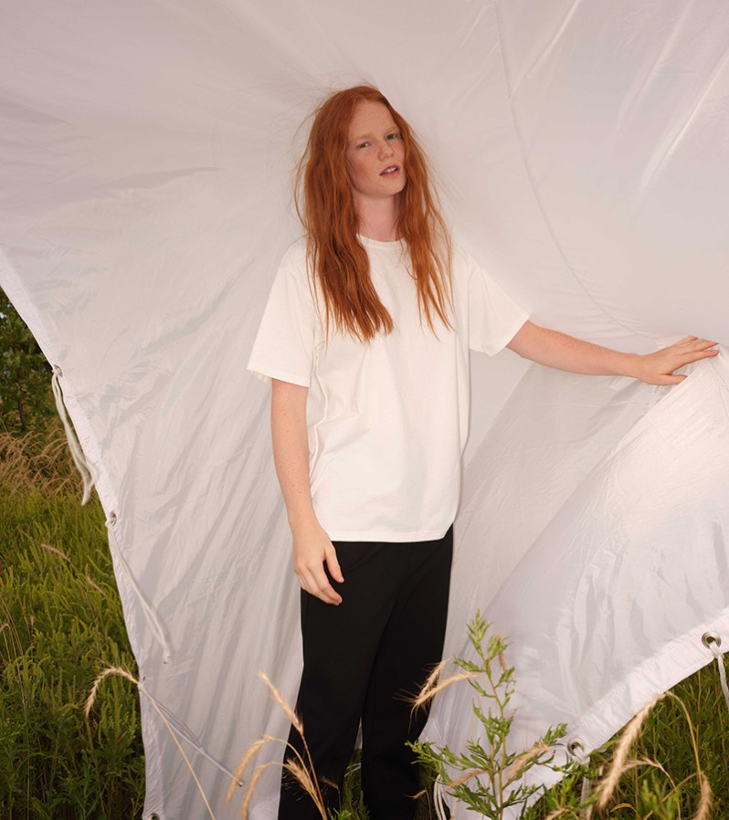 Odeyalo white t-shirt made in Quebec