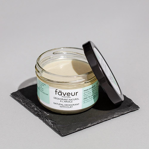 Natural clay and shea deodorant by Faveur