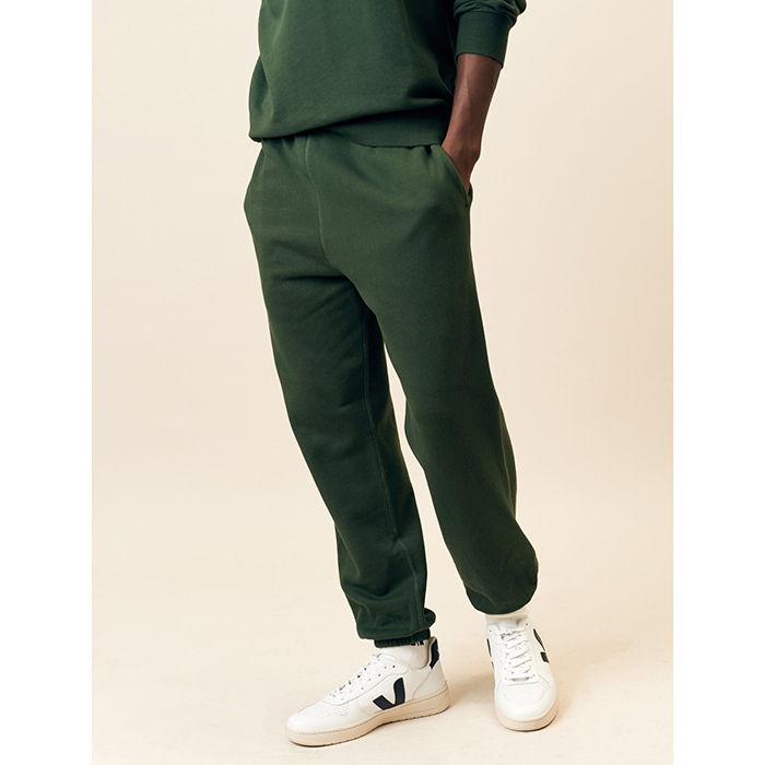 Sweatpants cut in organic cotton made in Portugal