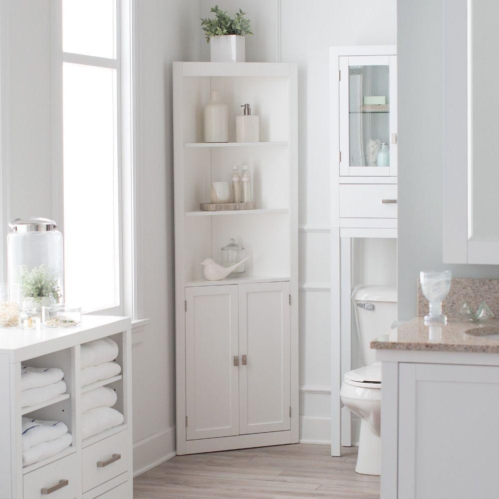 Bathroom Corner Linen Cabinet  Cabinet Ideas