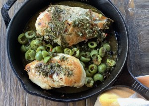 Chicken with Olives Lemons and Herbs