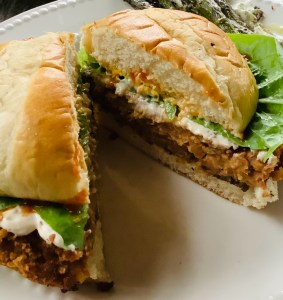 Refried Bean, Lime and Cilantro Burgers