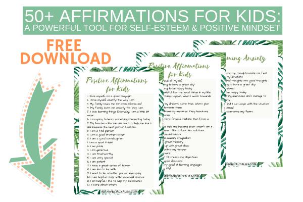 photo regarding Printable Positive Affirmations known as No cost Printable 50+ Good Affirmations for Small children: A