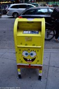 All the mail boxes in NY were of Sponge Bob.