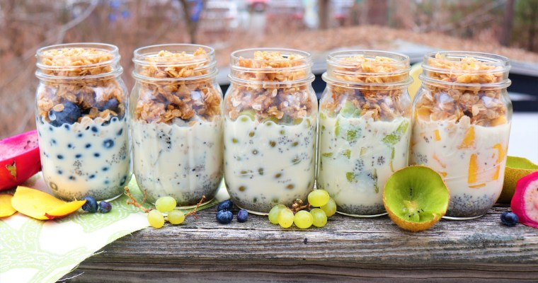 Make-Ahead Chia Pudding Parfaits + The College Vegan Cookbook Review