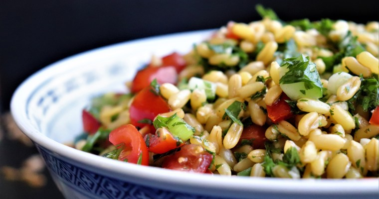 Carrot Top Tabbouleh with Kamut