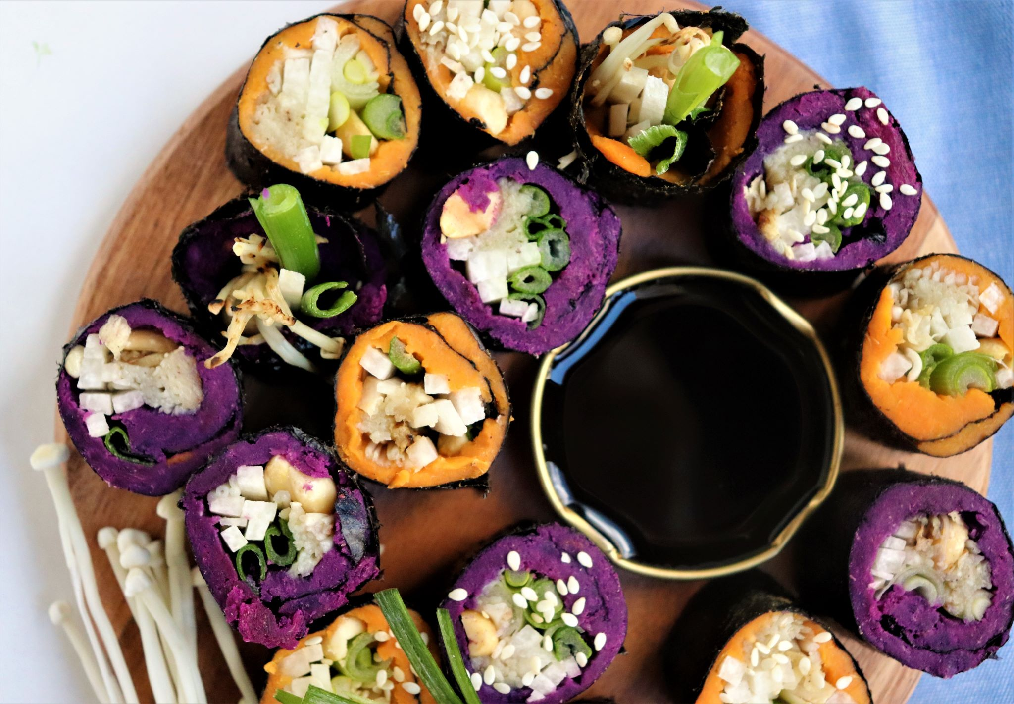No Rice Sushi with Sweet Potato and Jicama - Very Vegan Val