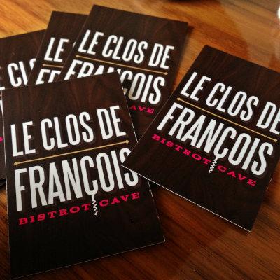 Cartes de visite Le Clos de François