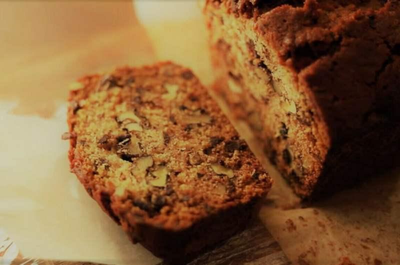 Банановый хлеб с грецкими орехами и шоколадом