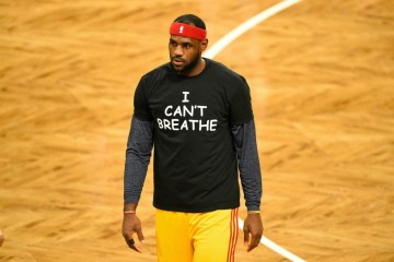 LeBron James, marking the death of Eric Garner, in 2014. Photo by Rick Kane (The New Yorker)