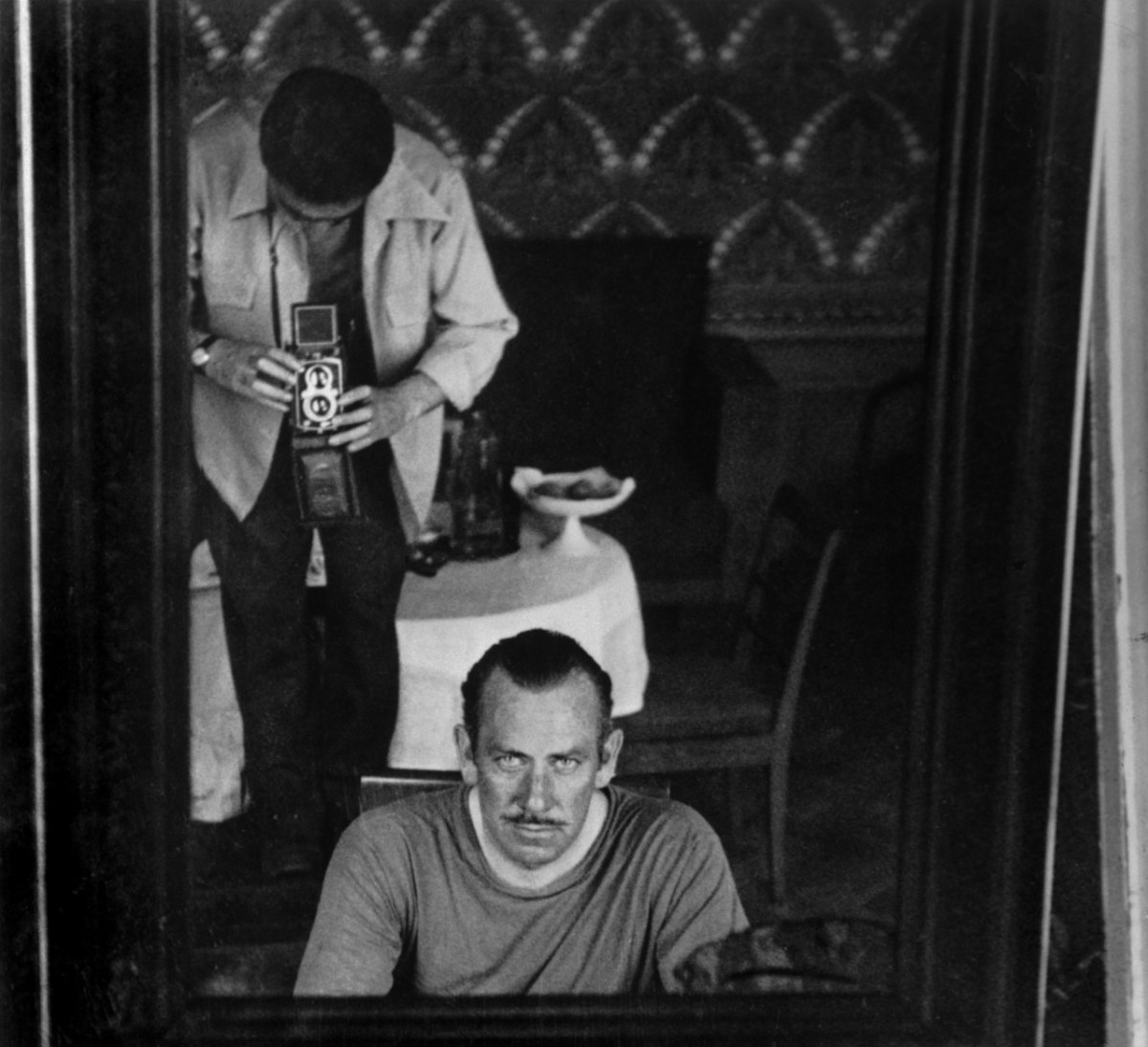 John Steinbeck ve Robert Capa. Moskova, 1947. Fotoğraf: Robert Capa © International Center of Photography | Magnum Photos