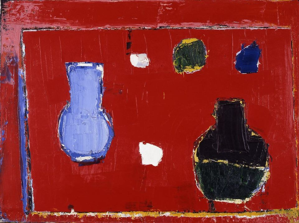"""Nature morte à la table rouge"" (Nicolas de Staël, 1953)"