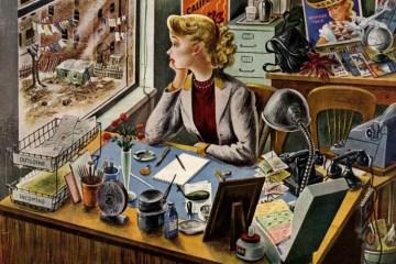 Kurmaca Edebiyat. İllüstrasyon: Constantin Alajalov, 1949
