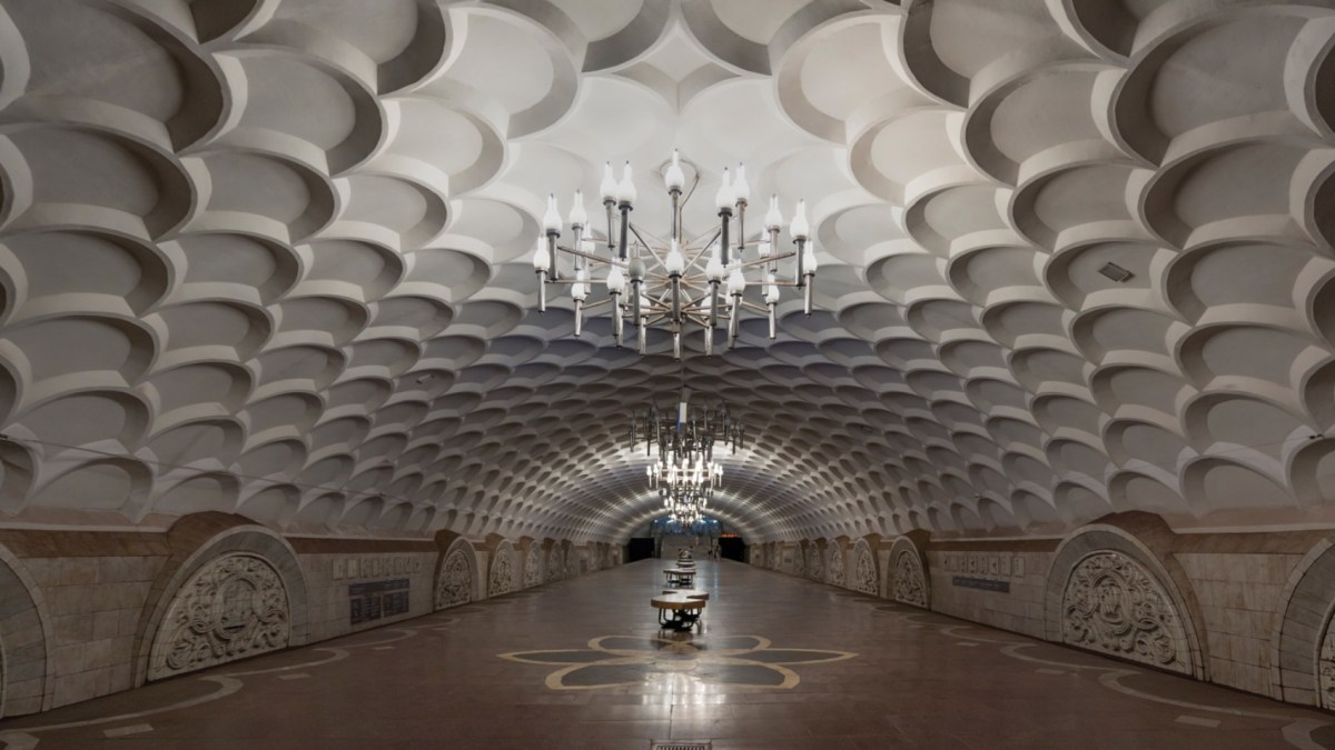 Kkarkiv Metro İstasyonu, Kharkiv, Ukrayna. Fotoğraf: Christopher Herwig.